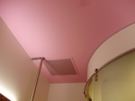 Pink on the ceiling!